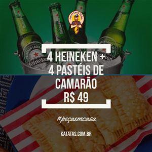 4 HEINEKEN + 4 PASTEIS DE CAMARÃO