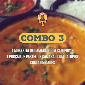 COMBO 3 / MOKEKITA CAMARÃO C/ CATUPIRY + PASTEL DE CAMARÃO COM CATUPIRY