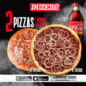 COMBO (1 PIZZA GIGANTE 8 FATIAS  + 1 PIZZA GRANDE 6 FATIAS +  REFRIGERANTE  1,5 L)