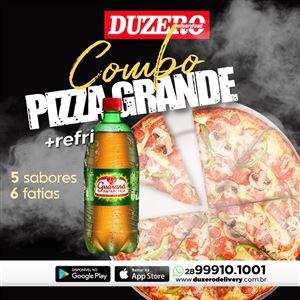 COMBO 1  PIZZA GRANDE  ( 6 FATIAS) +1  GUARANA ANTARCTICA DE 1 L