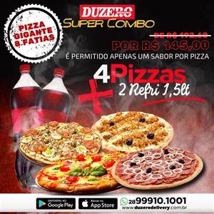 COMBO (4 PIZZA GIGANTE 8 FATIAS  + 2  REFRIGERANTE  1,5 L
