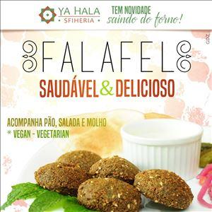 FALAFEL (5 FALÁFEIS + SALADA + 2 PÃES + MOLHO TARATOR)