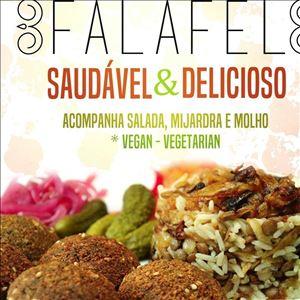 FALAFEL + MIJARDRA (5 FALAFEIS + SALADA + ARROZ COM LENTILHA + MOLHO TARATOR)