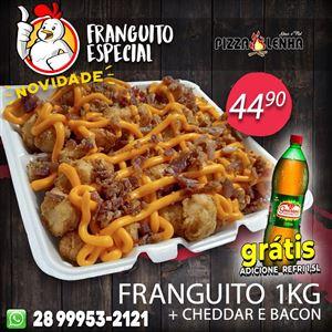 FRANGUITO 1KG COM CHEDDAR E BACON + REFRI GRÁTIS