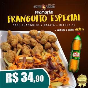 FRANGUITO 500G + BATATA C/ CHEDDAR E BACON + REFRI 1,5L