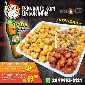 FRANGUITO COM LINGUICINHA E BATATA + REFRI GRÁTIS