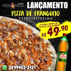 PROMOÇÃO PIZZA DE FRANGUITO 8 FATIAS + REFRI 1,5