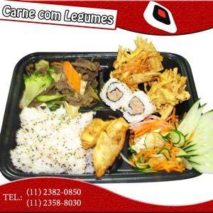 Nº 3 Teishoku Carne com Legumes