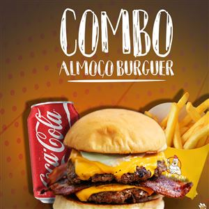 COMBO ALMOÇO BURGER 1BURGER SMASH+1BATATA P+1REFRI COCA LATA