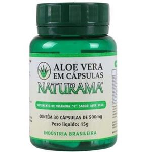 Aloe vera (babosa) 500mg 30 cápsulas - Naturama