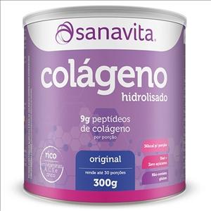 COLAGENO HIDROLISADO 300G SANAVITA - NEUTRO E SABORES