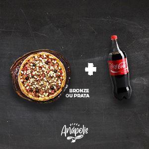 1 PIZZA GIGANTE + REFRIGERANTE 2 LITROS
