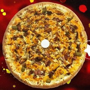 PIZZA FRANGO COM CHEDDAR E BACON