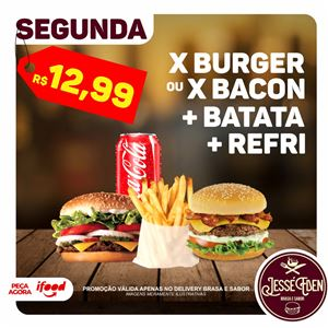 X BURGUER C/ BATATA E REFRI