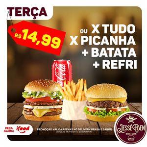 X PICANHA C/ BATATA E REFRI L