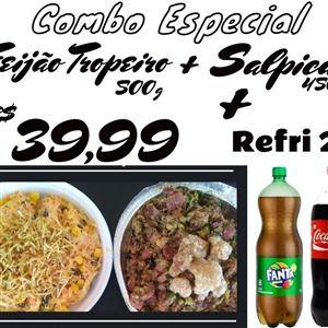 COMBO FEIJÃO TROPEIRO+SALPICÃO+1 REFRIGERANTE 2L(SABOR A ESCOLHER)